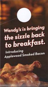 wendys bacon door hanger