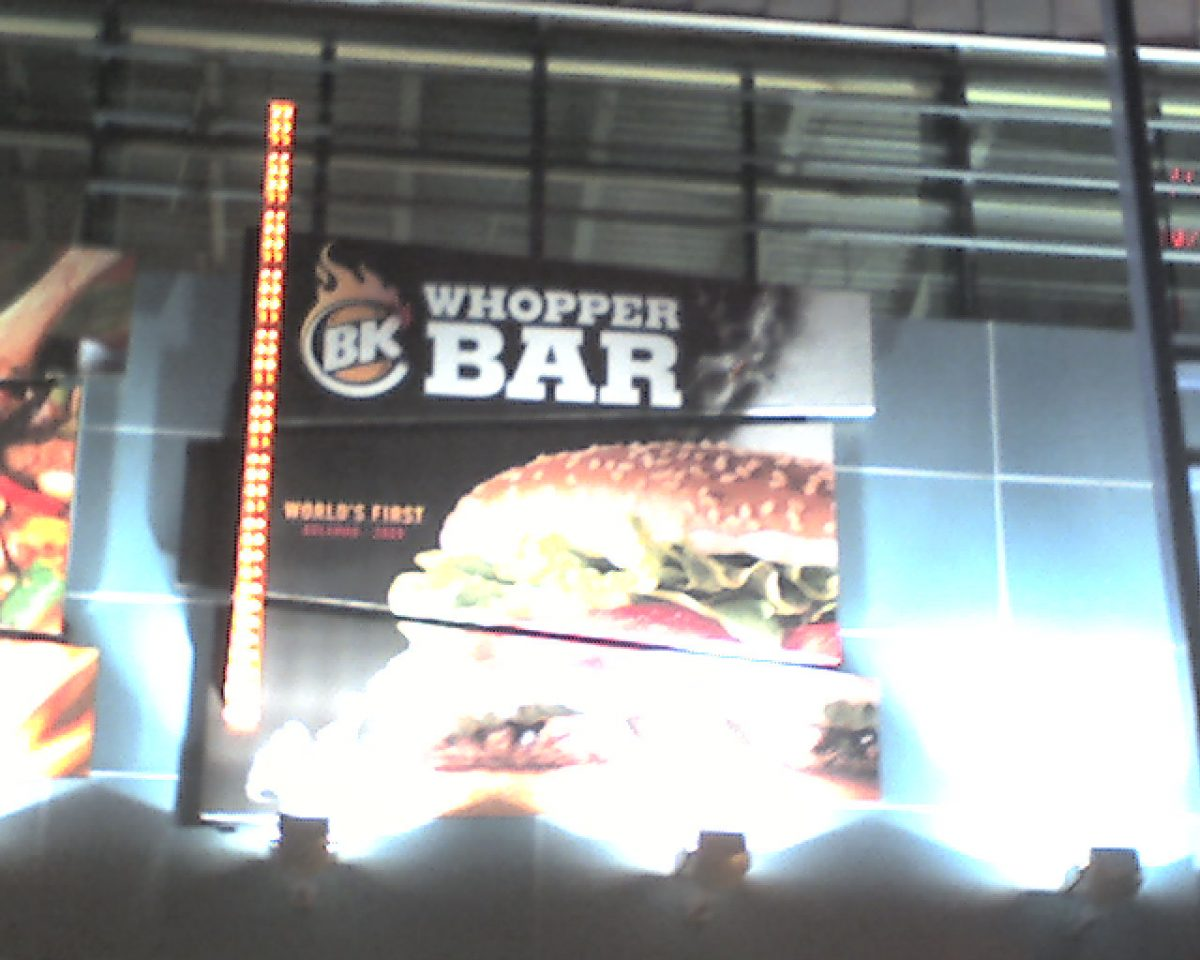 burger king whopper bar
