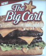 carls jr big carl poster