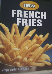 jack in the box fries poster