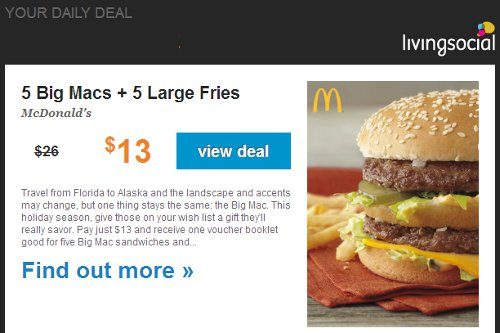 big mac and fries special