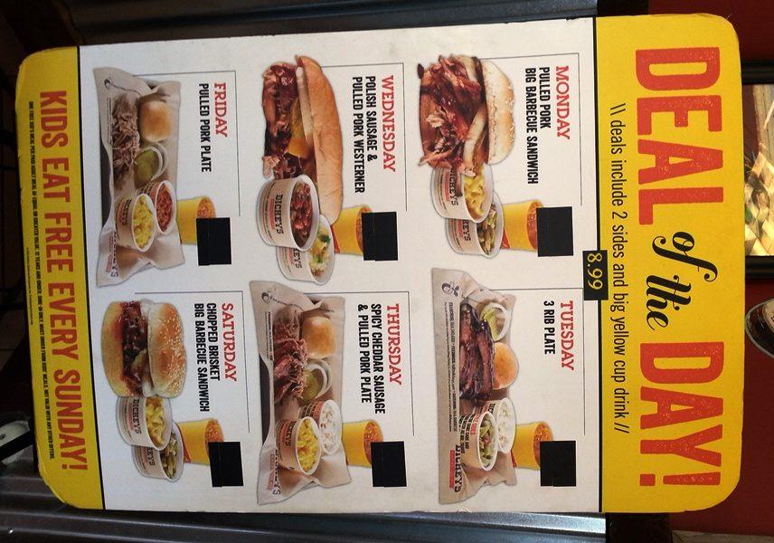 dickeys menu