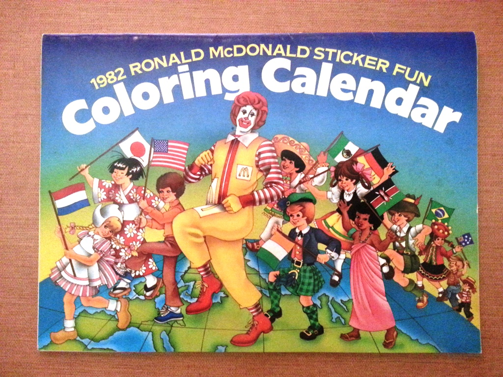 mcdonalds coloring calendar