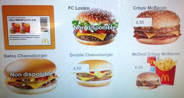 mcdonalds geneva menu
