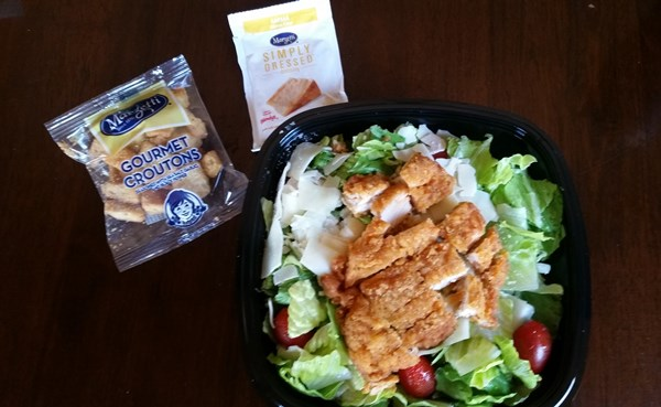 wendys spicy chicken caesar salad