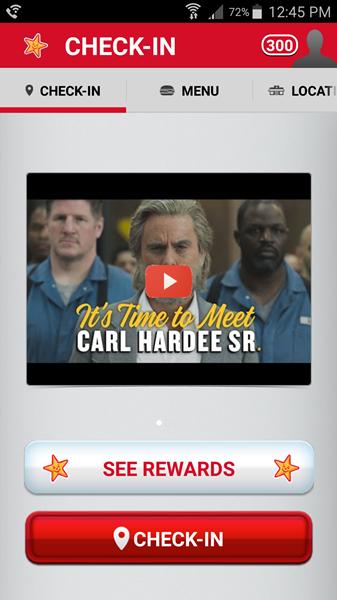 carls jr mobile app screen