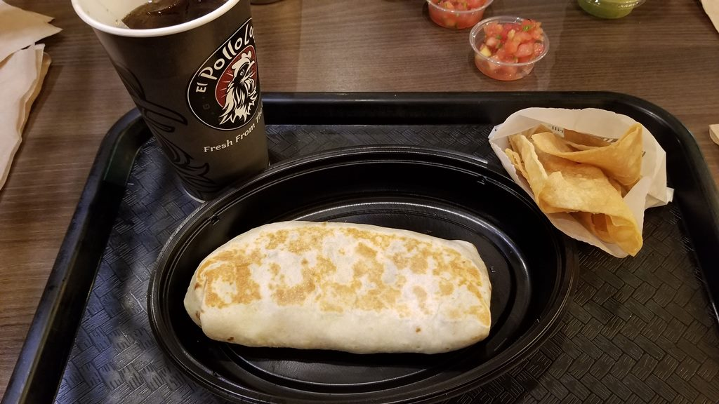 el pollo loco $5 craveable burrito combo