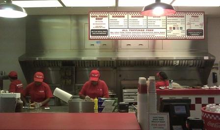 five guys kitchen