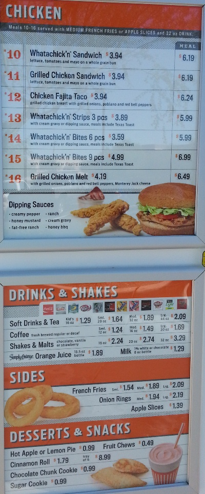 whataburger menu