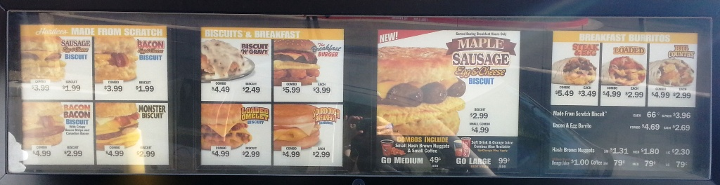 carls jr menu