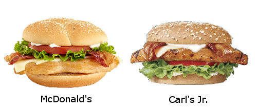 mcdonalds-carls jr chicken