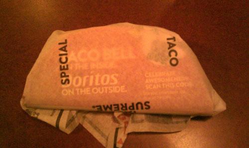 taco bell doritos locos wrapper