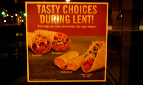 taco bell for lent