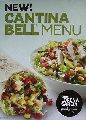 taco bell cantina menu poster