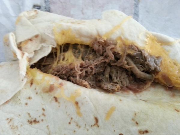 del taco shredded beef burrito