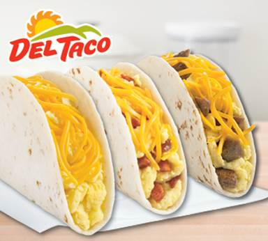 del taco breakfast tacos