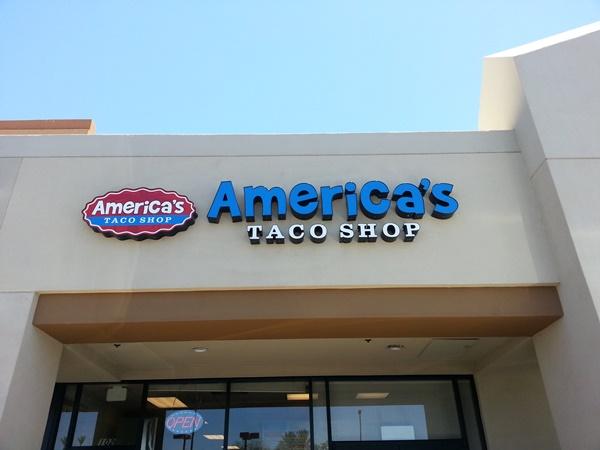 americas taco shop storefront