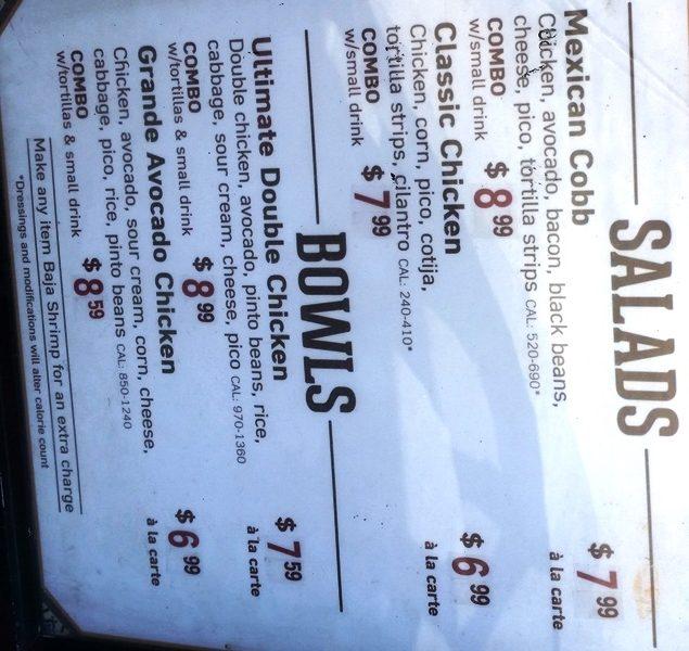 el pollo loco menu