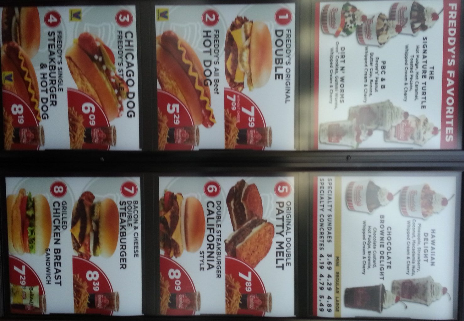 freddys menu