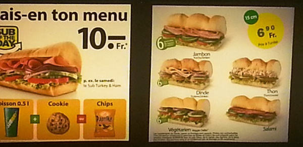 subway geneva menu