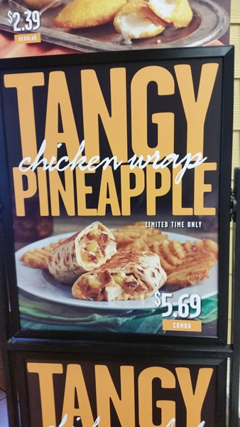 pollo tropical tangy pineapple chicken wrap