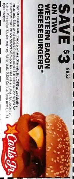 carls jr western bacon cheeseburger coupon